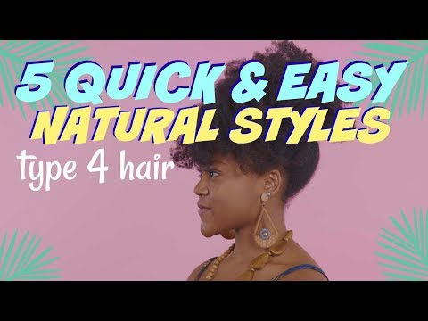 5 EASY Natural Hairstyles for School