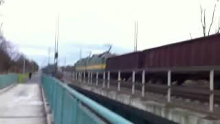 Průjezd Nákladního Vlaku ZSSK CARGO +pozdrav