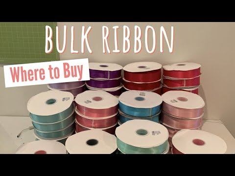 Where To Buy Ribbon In Bulk! It's Here!!!!