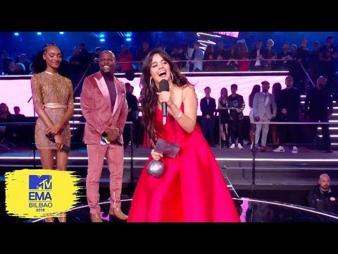 Camila Cabello Accepts Best Video Award | MTV EMAs 2018