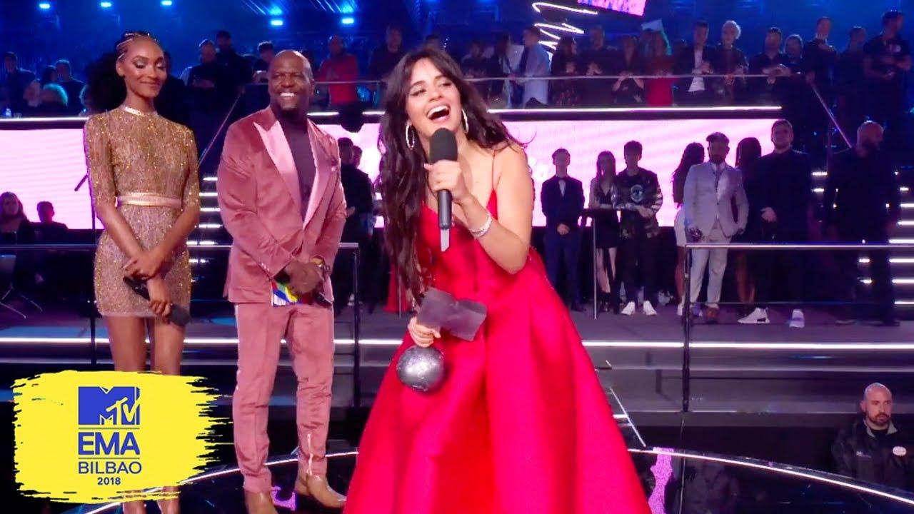 Camila Cabello Accepts Best Video Award | MTV EMAs 2018