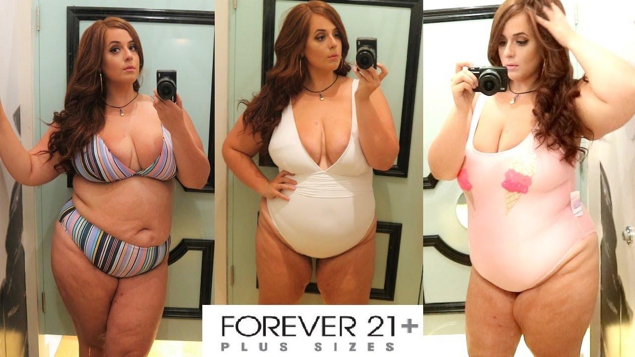 390ecdf0bace1 PLUS SIZE Forever 21 Swimwear Try on + Haul 2018 👙💖 - YouTube