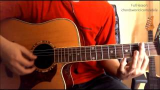 """One And Only Chords """"Adele"""" ChordsWorld.com Guitar Tutorial"""