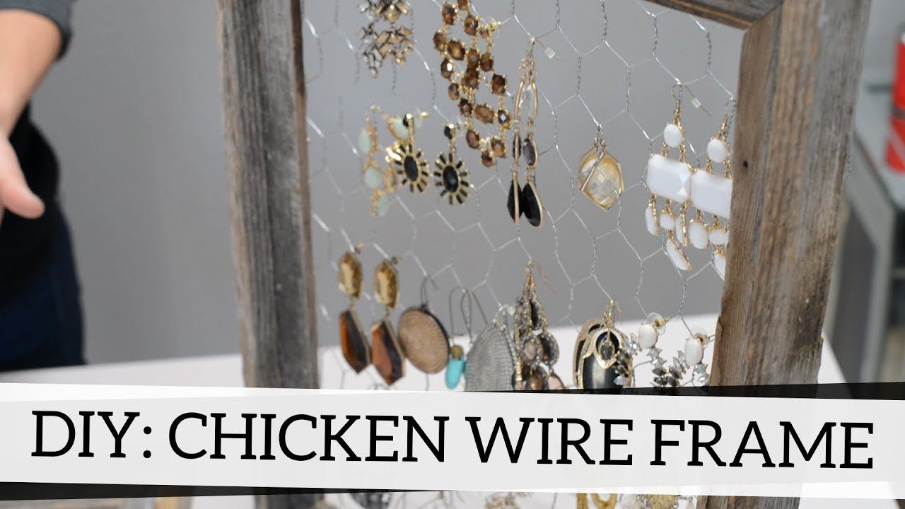 How to Add Chicken Wire to Frames DIY Accessory Holder YouTube