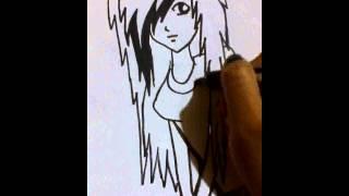 Draw an emo girl
