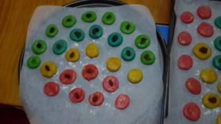 Сделали разноцветные печеньки!)