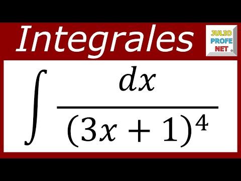 INTEGRACIÓN POR SUSTITUCIÓN - Ejercicio 5