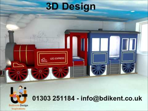 Train Bed - Bespoke made to measure childrens train bed