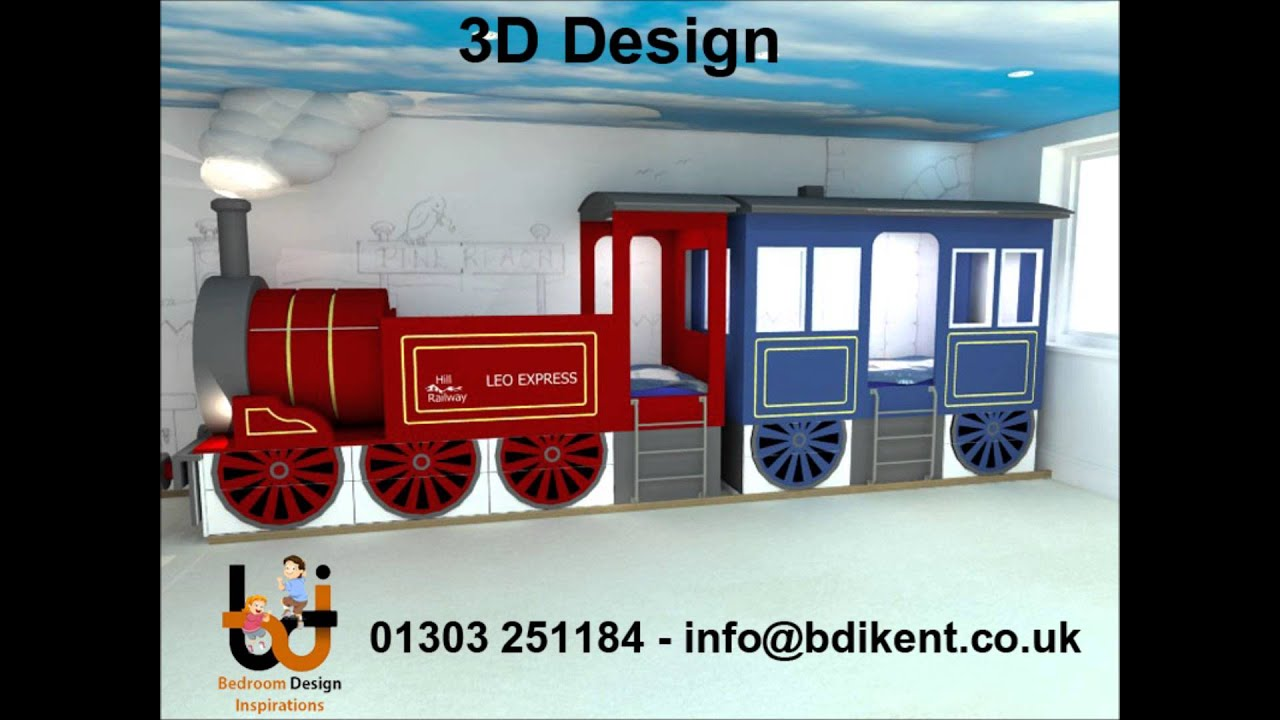 Train Bed - Bespoke Made To Measure Childrens Train Bed -7482