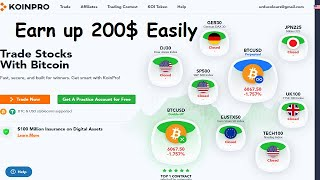 Earn $200 USD Free | koinpro  Exchange coin New Bounty join now
