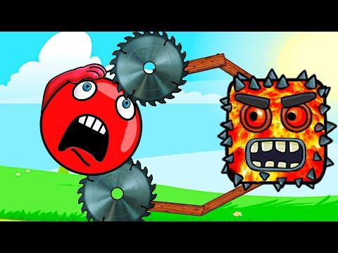 Лучшие серии Красный шарик! Мультик про розовый шар девочку! Игра Red ball craft! Лавовый квадрат!