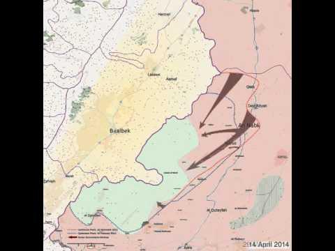 Battle of Qalamoun Timelapse - March 2014 - May 2014
