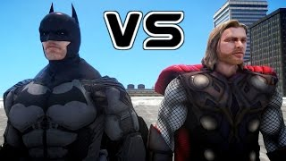 BATMAN VS THOR - EPIC BATTLE