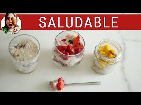 DESAYUNO CON AVENA LISTO EN MINUTOS! Ideal para llevar al trabajo (overnight oats)