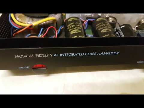 Recapped musical fidelity A1 amplifer