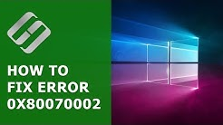 ?️ How to Fix Windows Update ? Error 0x80070002 in Windows 10 or 7