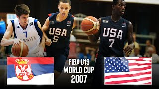 🔴- Serbia 🇷🇸 vs USA 🇺🇸   FINAL   Classic Full Game   FIBA U19 Basketball World Cup 2007