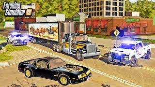 SMOKEY AND THE BANDIT! MAKING A DELIVERY ACROSS STATES (ROLEPLAY) | FARMING SIMULATOR 2019