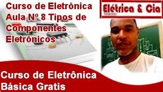 Tipos de Componentes Eletrônicos Curso de Eletrônica Basica #8