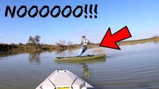 Broken Rod Fishing Challenge (HE FELL IN!!!)