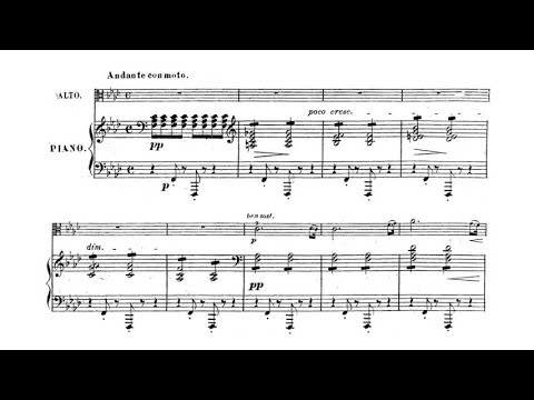 Henri Vieuxtemps - Elegie for viola and piano Op. 30 (LATE HALLOWEEN TRIBUTE)