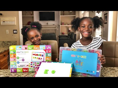 GINMIC Magnetic Letters & Numbers