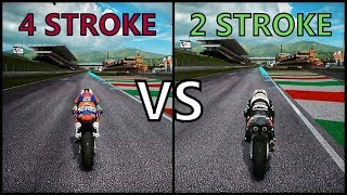 "MotoGP 17  2 STROKE vs 4 STROKE BIKES ""BATTLE"""
