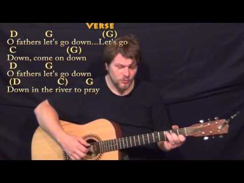 Down in the River to Pray - Fingerstyle Guitar Cover Lesson in G with Chords/Lyrics