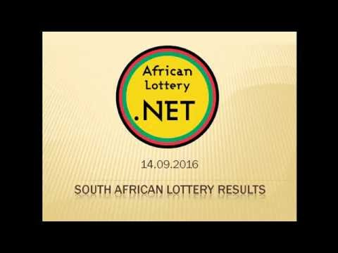 South Africa Lotto results - 14.09.2016