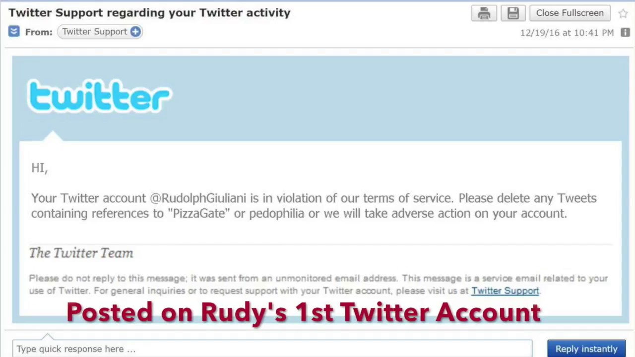 Rudy's 1st Twitter Account Exposed the Truth About the Cabal