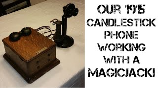 How to get a 1915 candlestick phone to work with MagicJack
