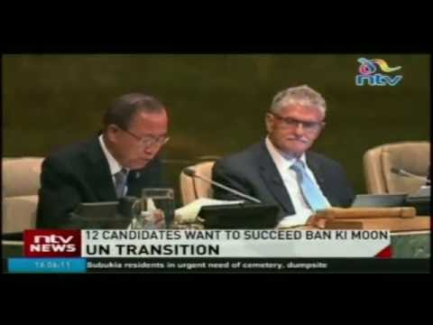 UN transition; 12 candidates in race to succeed Ban Ki Moon