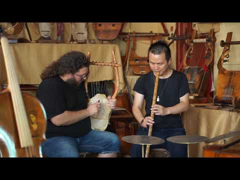 Chinese ancient flute and Ancient Greek Lyre improvisation