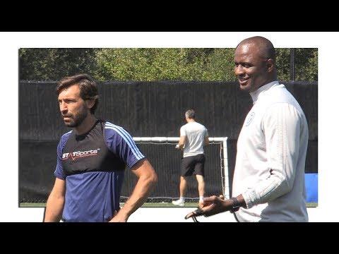 New York City FC Training Footage With Patrick Vieira, David Villa & Andrea Pirlo