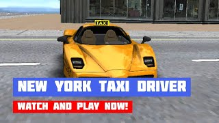 Free New York Taxi Driver 3D Sim · Game · Gameplay