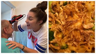 SEEING FAMILY, 1ST TIME SHAVING HUSBANDS HEAD, & COOKING DINNER!