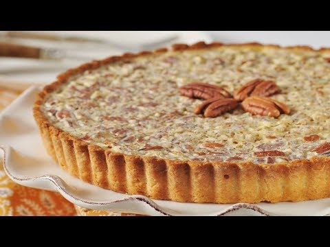 Pecan Custard Tart Recipe Demonstration - Joyofbaking.com