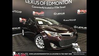 Used Maroon 2013 Toyota Avalon XLE Walkaround Review Cold Lake Alberta