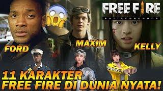 TERKEJOET!!! 11 CHARACTER FREE FIRE di Dunia NYATA (In REAL LIFE)!!!
