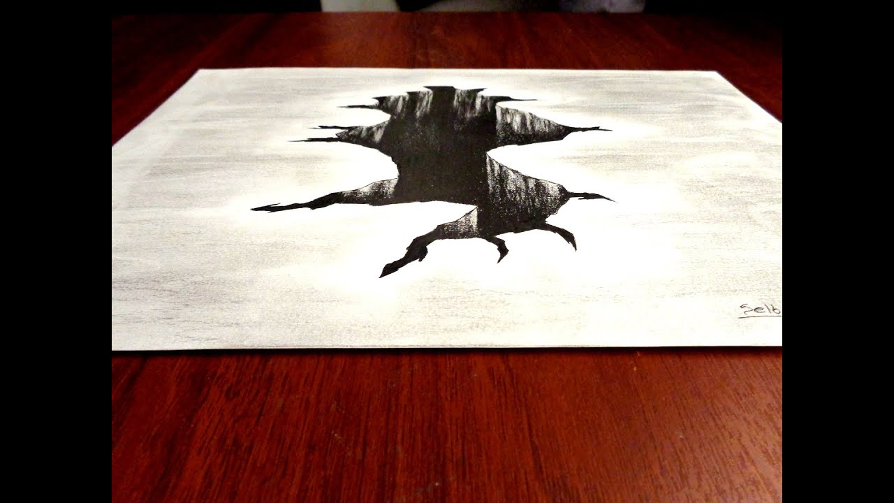 Ilusi n ptica agujero dibujo en 3d selbor youtube for Ilusiones opticas en el suelo