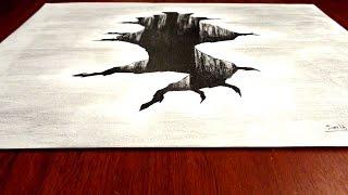 ILUSIÓN ÓPTICA - Agujero - Dibujo en 3D | Selbor