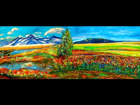 New modern Impressionist Masterpieces Panoramic Paintings Murals on the wall by Rami Benatar