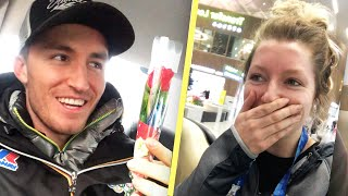 My Olympic Tinder Date Surprised Me At The Airport (Vertical Video)