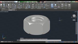 AutoCAD 3D Nut How to Draw Nut, Nut 3D Training Beginner