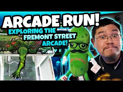 A DRAGON CLAW GAME?! Exploring the Fremont Street Arcade Games in Downtown Las Vegas! TeamCC