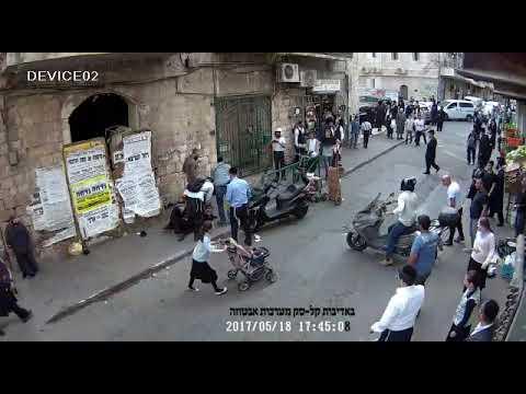 תיעוד: בלשי משטרה מחופשים לחרדים עוצרים ותוקפים חרדים במאה שערים