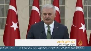 رئيس الوزراء التركي يتوعد بالرد على هجوم الباب