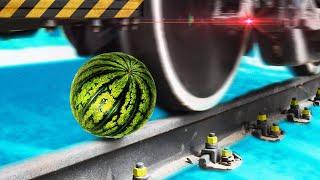 Фото с обложки Что Если Арбуз Переехать Поездом В Слоумо?