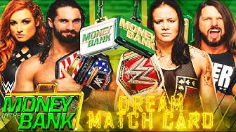 WWE MONEY IN THE BANK 2020 | DREAM MATCH CARD