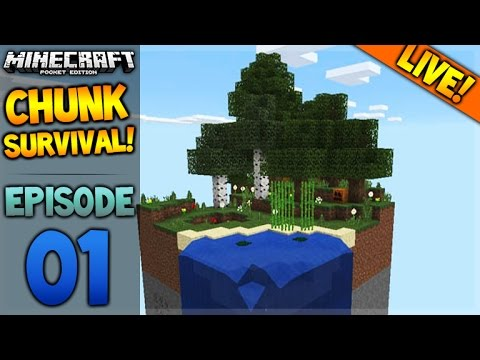 LIVE NOW - Minecraft Pocket Edition - 0.16.0 Chunk Survival Challenge Map (Pocket Edition)